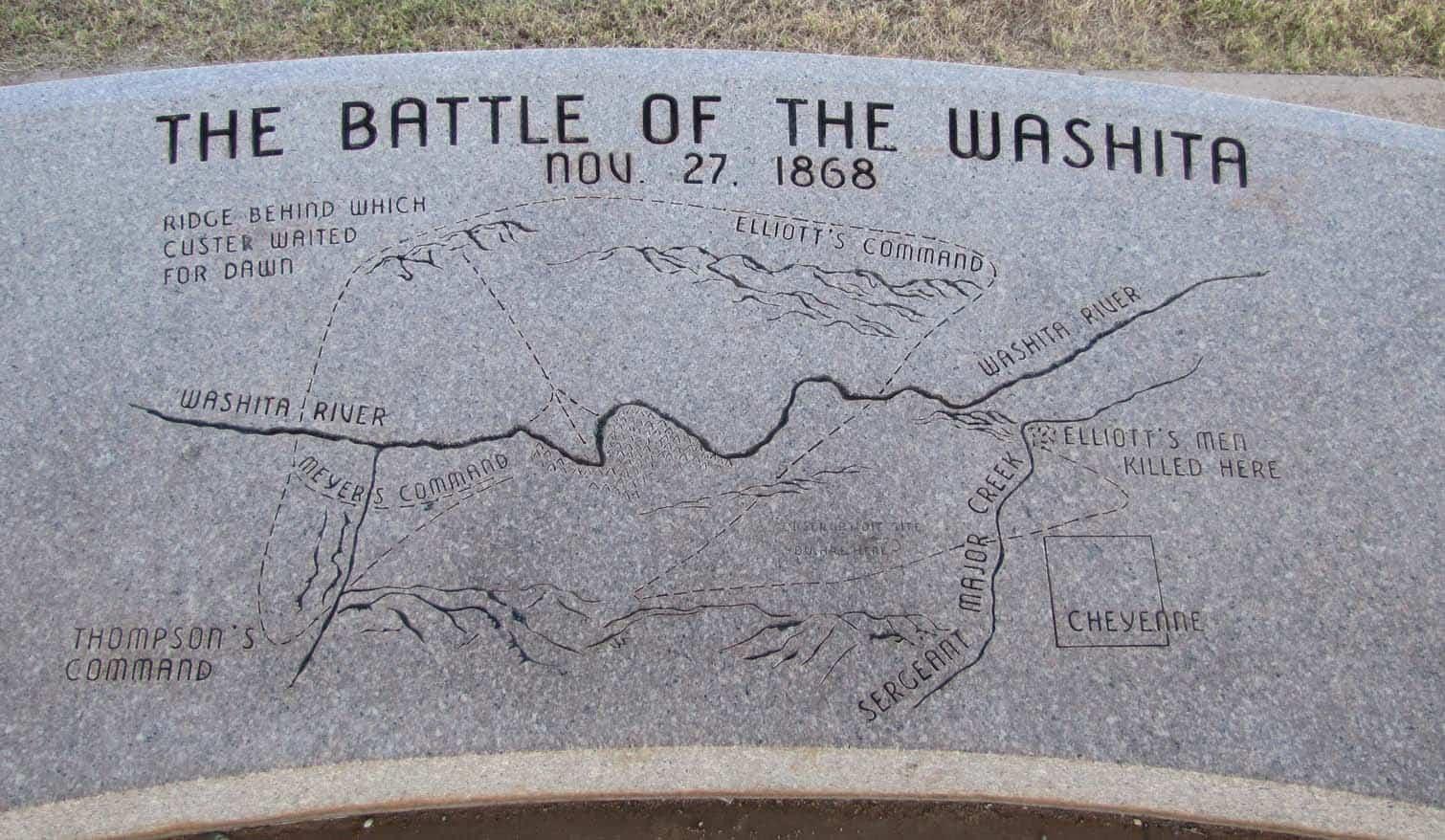 map of the washita battlefield