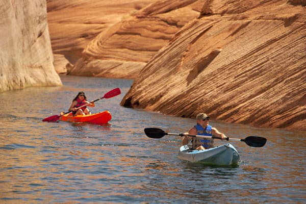 Kayaking near Lake Powell