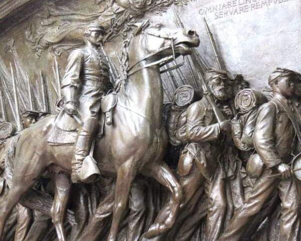 Statue of 54th Massachusetts Robert Shaw