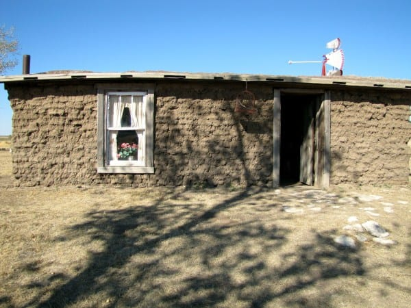 Soddy House at Santa Fe Trail Center, Larned, Kansas