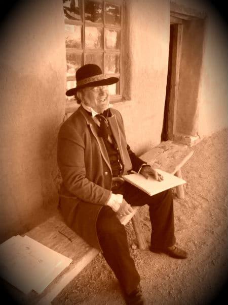 Worthington Whittredge reenactor at Bent's Old Fort Colorado